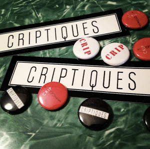 Criptiques stickers and buttons